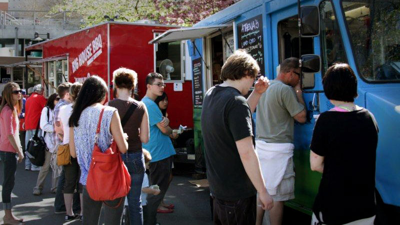 Big House BBQ and Athena's Gyros Food Truck at Seattle Center