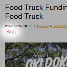 Pin It Button For Food Truck Websites
