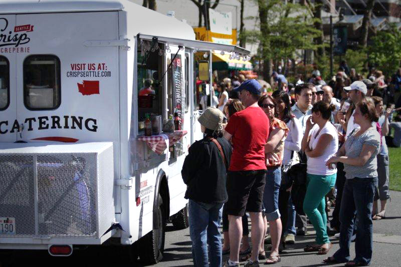 Seattle Crisp Creperie Food Truck at Seattle Center