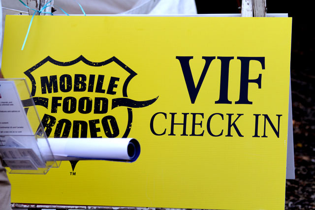 Mobile Food Rodeo Very Important Foodie Sign
