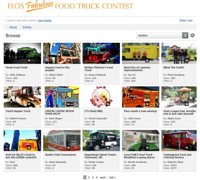Progressive Insurance Food Truck Contest Entrants
